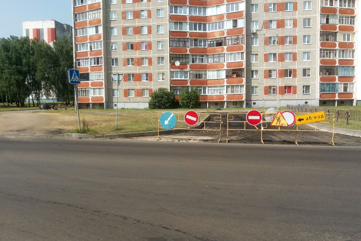 Стройка века Светлогорска – 30 метров дорожного покрытия по ул.Песочная на 6-м превратились в долгострой